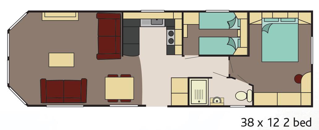 Danbury 2 bedroom floor plan